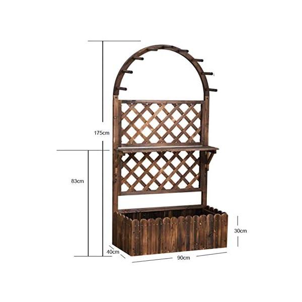 HEMFV Di Legno Solido Planter Box con Trellis Meteo Resistente Outdoor - Raised Elevato Garden Bed Wooden Planter… 2 spesavip