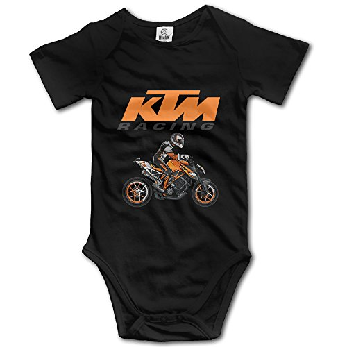 [KTM Racing Motor Unisex Short Sleeve Romper Bodysuit Playsuit Outfits For Baby Boys/Girls] (Elvira Outfit)