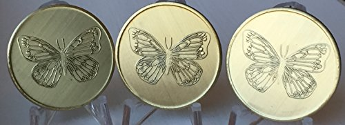 Bulk Lot of 3 Butterfly with Serenity Prayer Recovery AA Bronze Medallion Chip Set