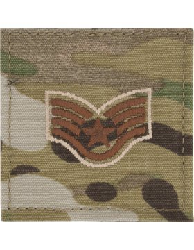 USAF Scorpion OCP Enlisted Rank (With Hook Fastener, E-5 Staff Sergeant -
