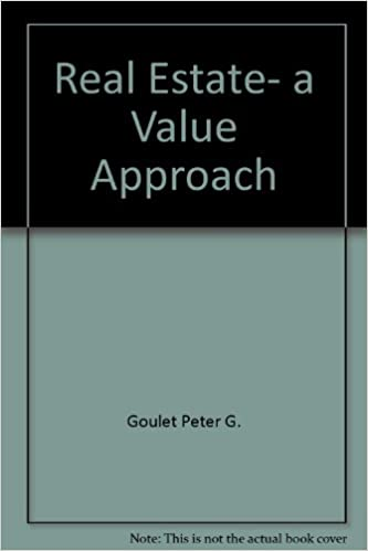 Download online Real estate, a value approach PDF