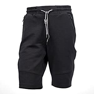 Yes Way Men's Classic Fit Casual Soft Fleece Cargo Short Pants-Black/Grey/Red(S up to 2XL)