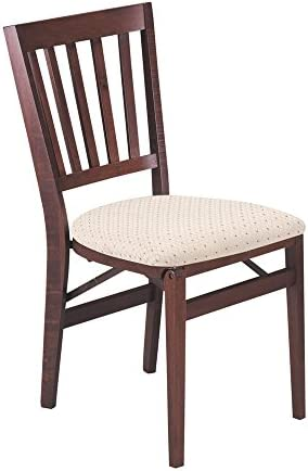 Schoolhouse Folding Chair in Warm Cherry Finish – Set of 2