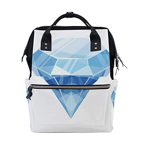 Bright Shimmering Diamond Jewelry Rich Large Capacity Diaper Bags Mummy Backpack Multi Functions Nappy Nursing Bag Tote Handbag for Children Baby Care Travel Daily Women ()