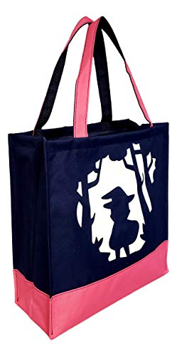 Custom Personalized Character Halloween Bag Trick or Treat Tote (Witch)]()
