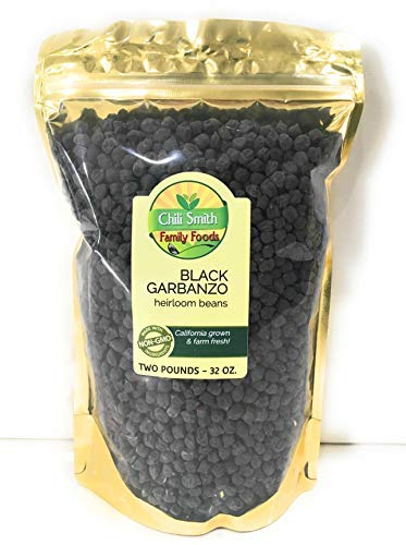 Black Garbanzo Heirloom Beans Non GMO All Natural 2 POUNDS The Hummus Bean - Chick Peas if Your From the South