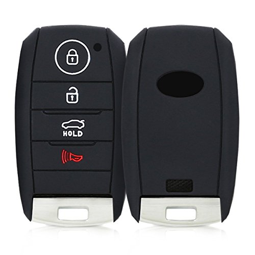 kwmobile Car Key Cover for Kia - Silicone Protective Key Fob Cover for Kia 4 Button Car Key Smart Key - Black ()