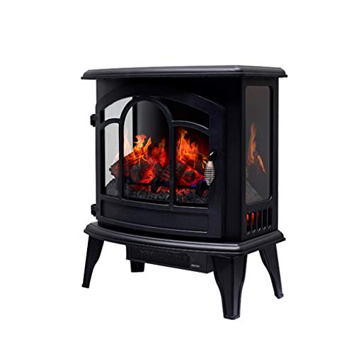 Cheap Liu Weiqin Electric Fireplace - Home Heater/Simulated Flame Hearth Mobile Large Electric Fireplace/Three Sides Fire 570345560MM Black Friday & Cyber Monday 2019
