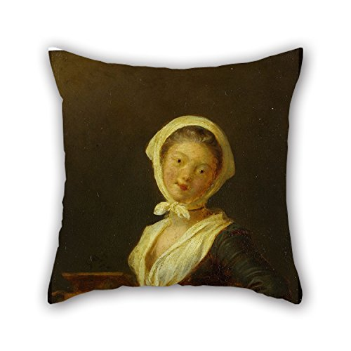 Loveloveu The Oil Painting Jean Honore Fragonard - An Organ Grinder (a Woman Of Savoy) Pillow Shams Of ,16 X 16 Inches / 40 By 40 Cm Decoration,gift For Office,seat,valentine,gril (Bugs Bunny Female Adult Costume)