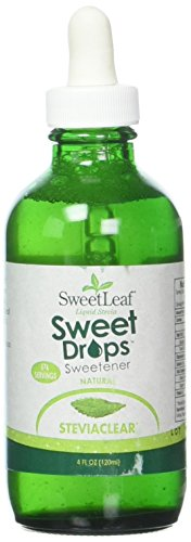 Sweetleaf Stevia Stevia Clear Liquid,4 oz, Pack of 2