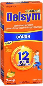 Delsym 12 Hour Cough Relief Liquid Orange - 5 oz, Pack of 2