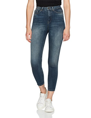 para Only Dark Mujer Azul Blue Slim Denim Vaqueros qzPER