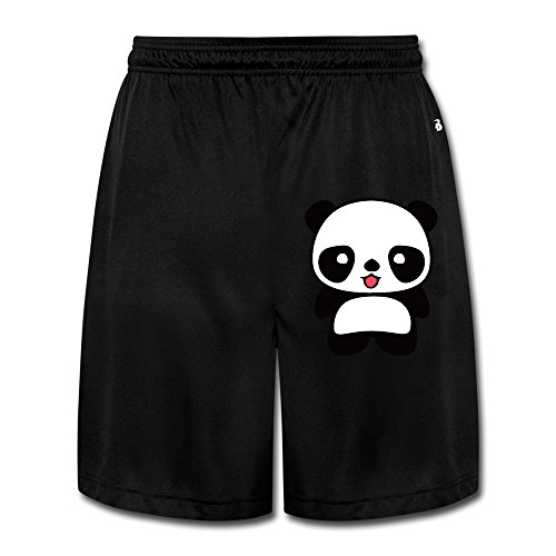 Greys Anatomy Wii - LunaCp Men's Kawaii Panda Performance Shorts Sweatpants M Black