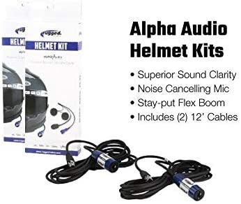 Rugged Radios Complete Communication System with Dash Mount /& Helmet Kits for Polaris RZR PRO XP