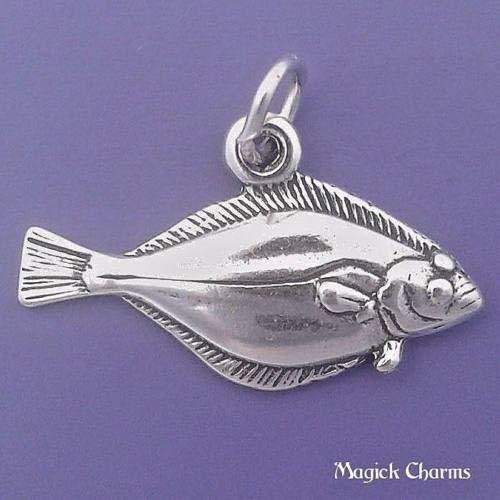 OutletBestSelling Beads Bracelet Sterling Silver Pacific Halibut Flatfish Flounder Fish Charm Pendant