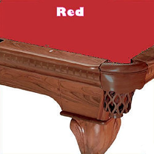 (8' Cut 760 Pool Table Cloth Color: Red )