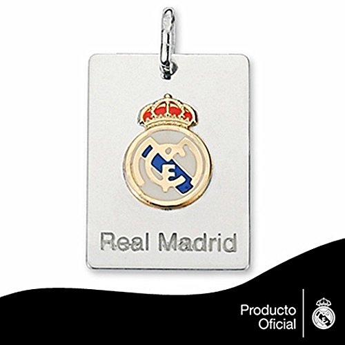 Plaque pendentif Real Madrid bouclier droit Plata or [6782GR] - Modèle: 30-005 - personnalisable - ENREGISTREMENT inclus dans le prix