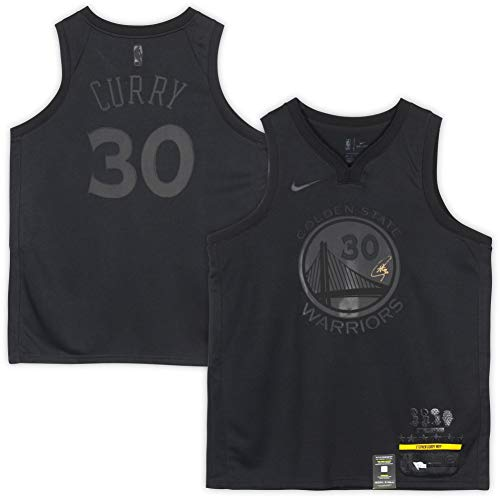 Stephen Curry Golden State Warriors Autographed Nike Black MVP Swingman Jersey - Fanatics Authentic Certified