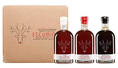 Award Winning Escuminac Canadian Maple Syrup Gift Bundle Grade A Including Our Extra Rare, Great Harvest and Late Harvest - Pure Organic Unblended Single Forest - 3 X 6.8 fl oz (200 ml) - Easter Gift by Escuminac (Image #6)