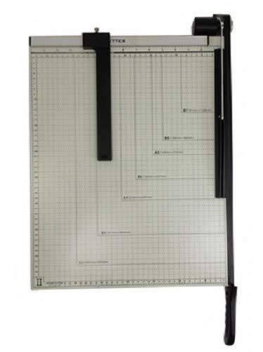 Paper Cutter Guillotine Style 15'' Cut Length X 12'' Inch Metal Base Trimmer by EDMBG