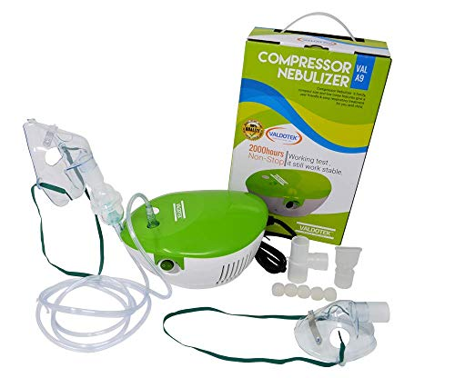 Aerosol Mask Nebulizer - Valdotek Compressor Vaporizer System Personal Cool Mist Inhaler kit for Adults and Children with 2 Set Accessories Kit