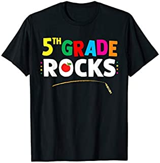 5th Grade Rocks Fifth Grade Back To School Tshirt Gifts T-shirt | Size S - 5XL