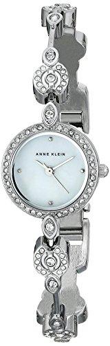 Anne Klein Women's AK/1803MPSV Swarovski Crystal-Accented Silver-Tone Bangle Watch