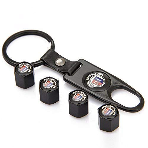 tyre valve dust caps Gift Renault High Quality Chrome key ring key chain fob