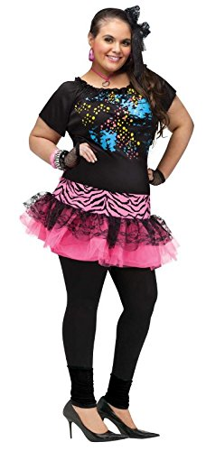 Fun World 80's Pop Party Plus Size Costume -