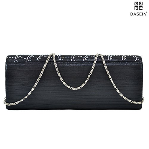 Crossbody Party Dasein Prom Purse Evening Silver Satin Women's Frosted Clutch Wedding Handbags Bag xwHw0zZq1g