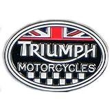 Llavero con emblema de Triumph original de cuero auténtico ...