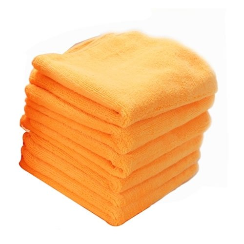 Chemical Guys MIC_303_6 Orange Banger Extra Thick Microfiber Towel (16.5 in. x 16.5 in.) (Pack of 6)
