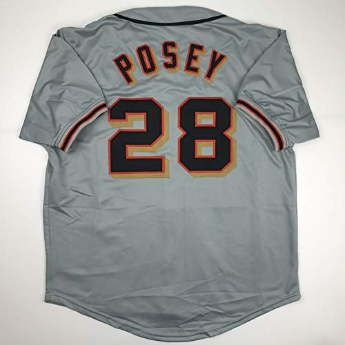 Unsigned Buster Posey San Francisco Grey Custom Stitched Baseball Jersey Size Men's XL New No Brands/Logos