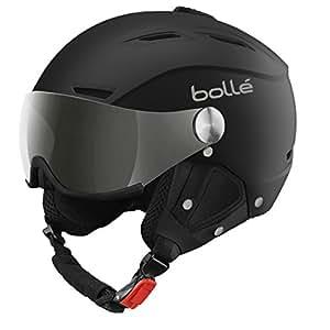 Bollé 31155 - Casco de esquí Backline Negro/Plateado (Soft Black/Silver), visor Plateado/Limón (Silver Gun/Lemon), 56–58cm