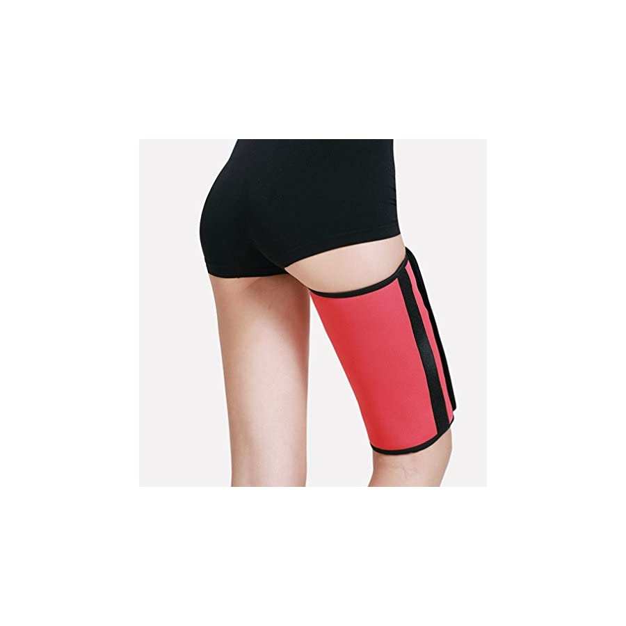 Gudessly 1 Pair Sauna Leg Slimming Thigh Belt Sweats Lose Weight Body Shaper Support Leg Warm Stretch Neoprene Wrap