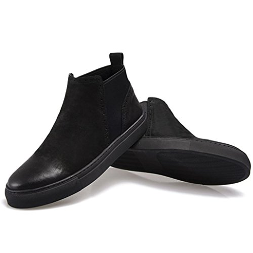 Haut Chaussures Bottes Bottes Rétro Brock Cuir Des À En Hommes Black Matelassé 40 La En Cuir Martin Sculpté Des Cheville Dessus Utww16Sd