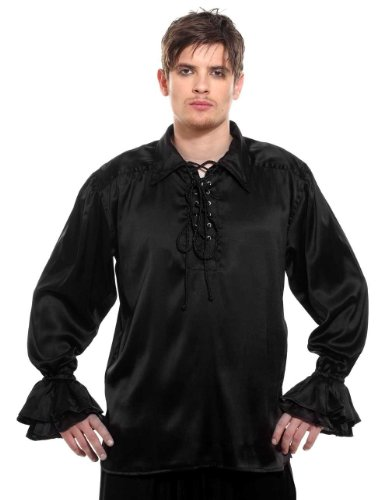 Medieval Frilly Ruffled Pirate Costume Shirt