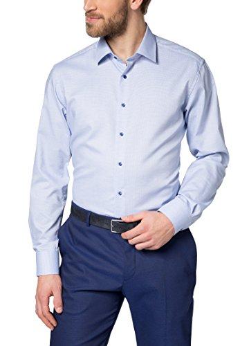 Eterna Long Sleeve Shirt Modern Fit Natté Structured
