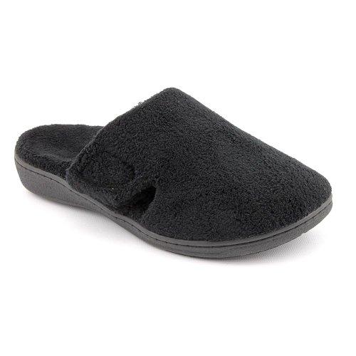 Orthaheel Gemma Slipper Womens Size 7 Black Textile Scuffs Shoes