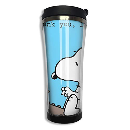 Stainless Steel Travel Mug Snoopy Thank You Dad Coffee Cup Tumbler with Lid 14.3 - Snoopy Thank You