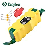 scooba irobot battery - Eagglew 3800mAh for iRobot Roomba 14.4v Replacement Battery R3 500 510 520 600 650 700 800 Series, 3 Arm-Side Brushes and 1 Cleaning Tool