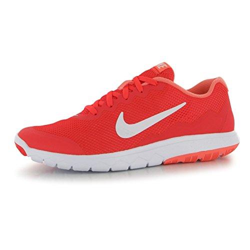 Nike Flex Experience Laufschuhe Damen rot/weiß Fitness Trainer Sneakers
