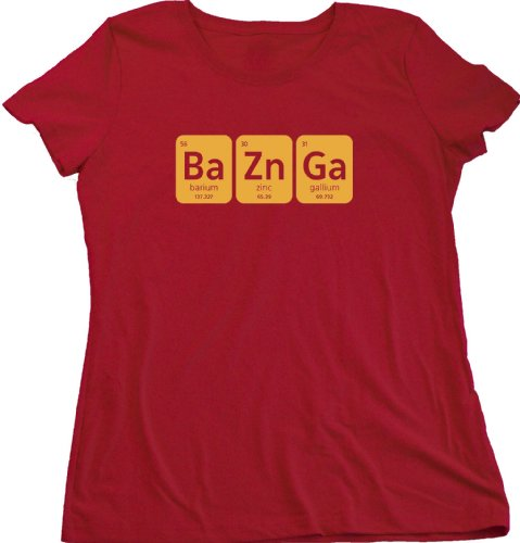Bazinga Ladies Cut T-shirt Science TV Sitcom Catchphrase Fan Tee