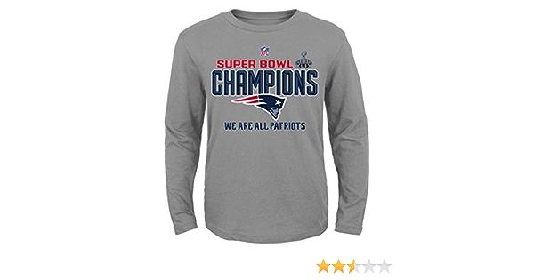 New England Patriots nfl Super Bowl XLIX campeones vestuario L/S camiseta para hombre
