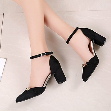 UK6 Low FYios CN40 Ons 5 Blushing Black Almond Buckle Heel EU39 Slip PU Outdoor Comfort Summer amp; Women'sLoafers Pink Walking US8 5 FqHn1F8