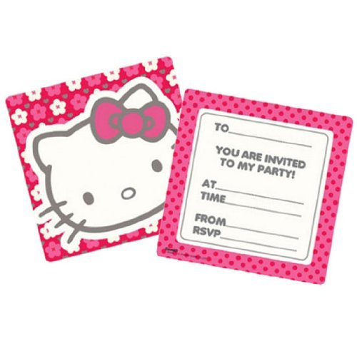- Hello Kitty Invitation Pads with Envelopes - Pack of 6
