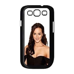 Celebrities Beautiful Leighton Meester Samsung Galaxy S3 9300 Cell Phone Case Black DIY Present pjz003_6529302