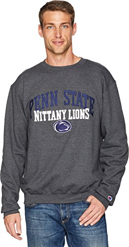 Champion College Men's Penn State Nittany Lions Eco Powerblend Crew Granite Heather XX-Large (Crew Shirt Penn)