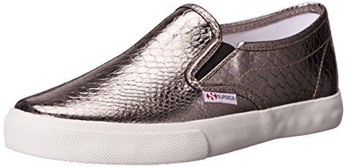 Superga Women's 2311 Metallicsynthsnakew Fashion Sneaker, Graphite, 39.5 EU/8.5 M US