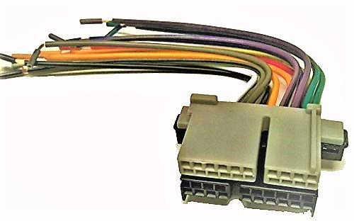 Factory Radio Replacement Wires That Plug into The Original Radio from a Chevrolet, S-10 Pickup, 1990, 1991, 1992, 1993, 1994, 1995, 1996, 1997, 1998, 1999, 2000, 2001, 2002